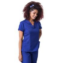 Scrub Blusa Feminina Decote V Gabardine Azul Marinho - Namastê