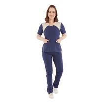 Pijama Cirúrgico Feminino Powerflex Azul Marinho - FunWork