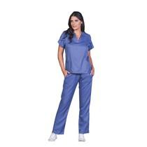 Pijama Cirúrgico Feminino Paris Azul Indigo - Biostilo