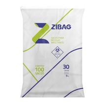 Saco para Lixo Hospitalar Branco 30L 9Kg - Zigbag