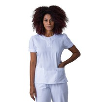 Scrub Blusa Feminina Plus Size Branco Princesa - Namastê