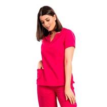 Scrub Blusa Feminina Decote V Gabardine Pink - Namastê