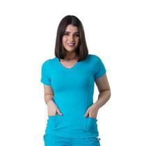 Scrub Blusa Dry Fit Azul Turquesa - Namastê