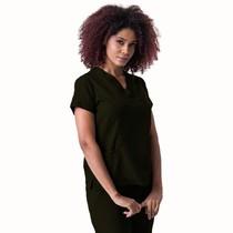 Scrub Blusa Feminino Plus Size Decote V Gabardine Militar - Namastê