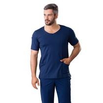 Scrub Blusa Masculina Dry Fit Azul Marinho - Namastê