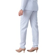 Scrub Calça Feminina Carla Gabardine Plus Size Branco - Namastê